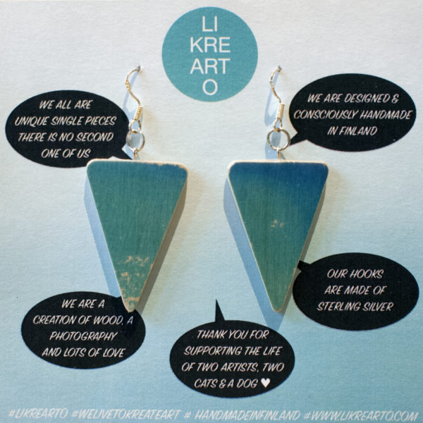 Triangle Earrings greenish/bluish